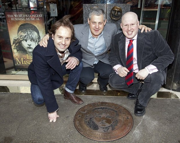 Sir Cameron Mackintosh with Alfie Boe and Matt Lucas