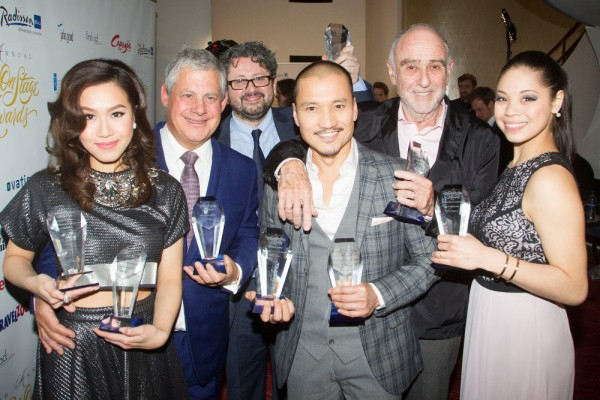 Cameron Mackintosh with other WhatsOnStage Award Winners
