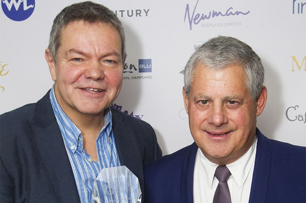 Anthony Drewe and Cameron Mackintosh at the WhatsOnStage Awards