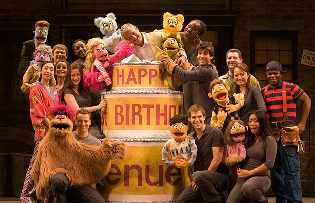 Cameron Mackintosh with Avenue Q Company