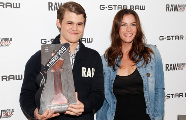 Magnus Carlsen with Liv Tyler