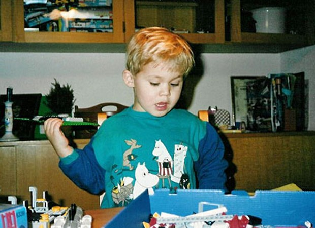 Magnus Carlsen in his childhood