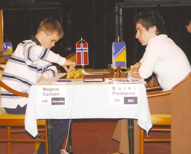 Young Carlsen playing against Borki