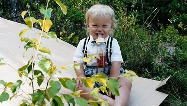 Childhood photo of Magnus Carlsen