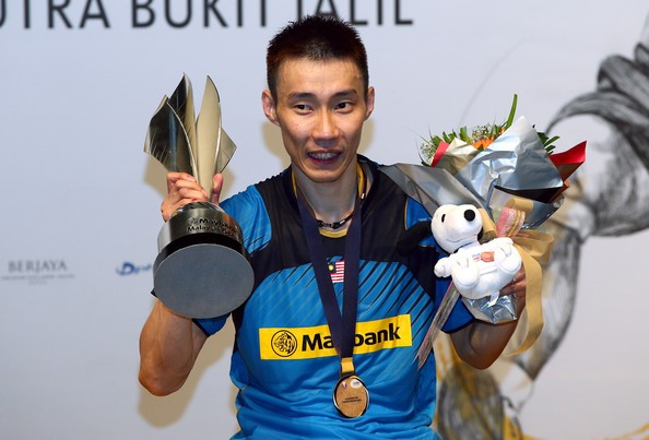 Lee with Malaysian Open 2014 Trophy