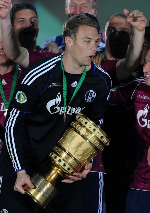 Manuel Neuer with DFB Cup