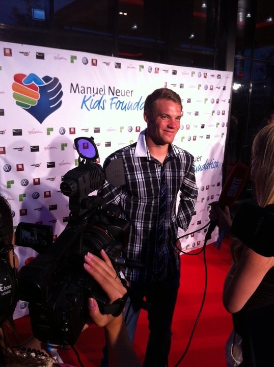 Manuel Neuer during presentaion for his kids charity foundation at Leonardo Royal Hotel in Munich