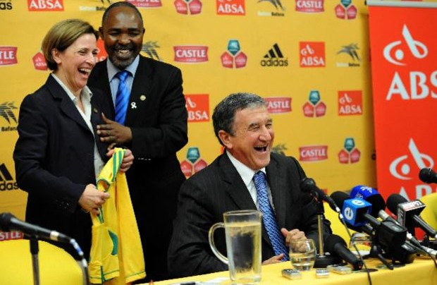 Maria Ramos with South Africa coach Carlos Alberto Parreira