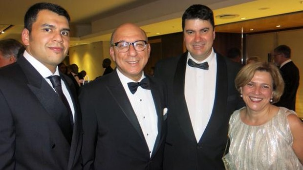 Govan Manuel, Trevor Manuel, Ray Hartley and Maria Ramos
