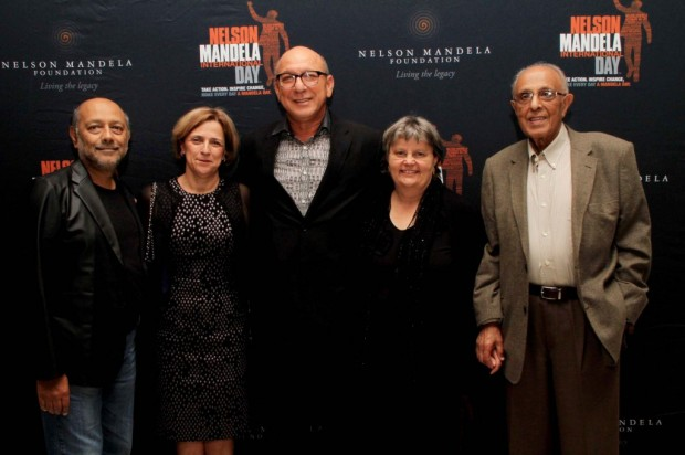 Anant Singh, Maria Ramos, Trevor Manuel, Barbara Hogan and Ahmed Kathrada at the South African premiere of Selma
