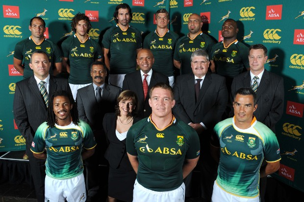 Maria Ramos With Springboks Team