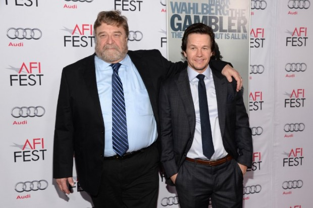 Mark Wahlberg and John Goodman at event of The Gambler