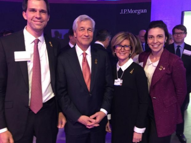 JP Morgan CEOs Jamie Dimon and Mary Callahan Erdoes