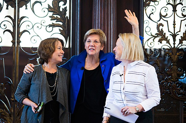 Mary Schapiro With Sheila Bair and Sen. Elizabeth Warren