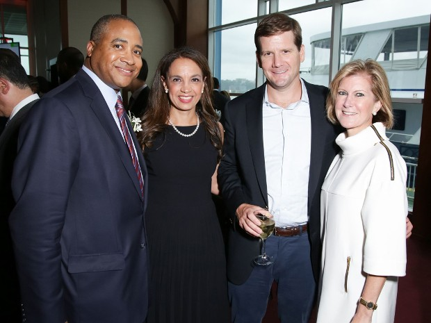 Lewis Warren Jr., Lisa Warren, Wayne Chambless and Mary Erdoes at the June 12 benefit for Pencil