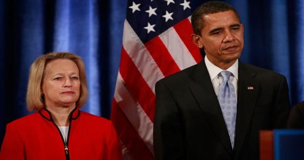 Mary Schapiro With Barack Obama