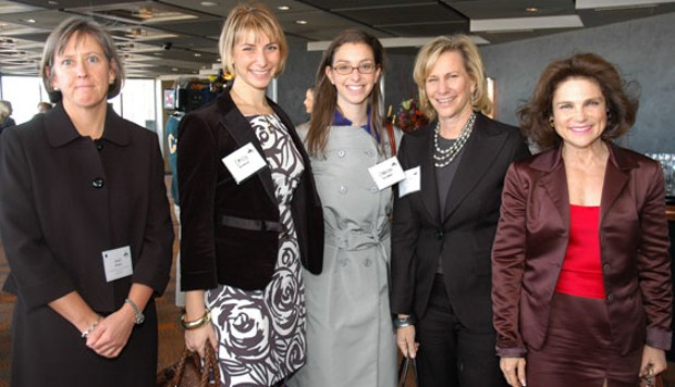 Mary Meeker With Emily Sussman, Carolyn Sussman, Laurie Tisch, and Tovah Feldshuh