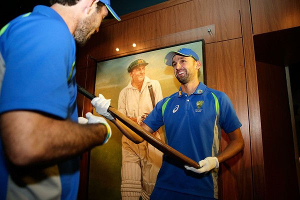 Maxwell at Sir Don Bradman Museum
