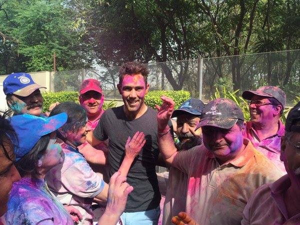Holi Celebrations of Maxwell