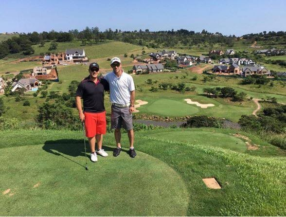 Aaron Finch and Glenn Maxwell have a wonderful time of Golf