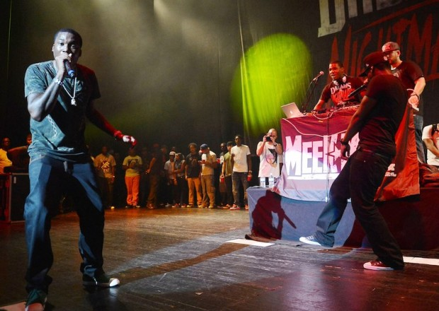 Meek Mill  performing at Fillmore Miami Beach during his Dream and Nightmare Tour