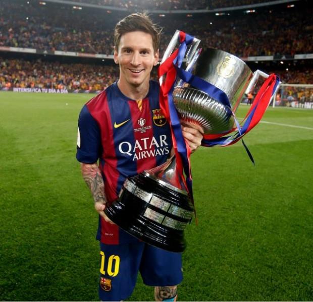Messi with La Liga title