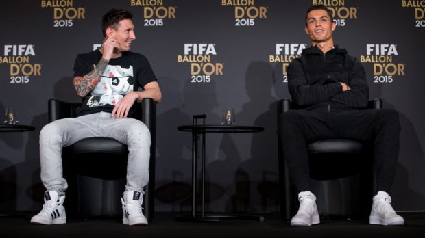 Equal Competitors Messi and Ronaldo