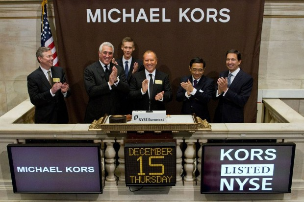 Michael Kors after listing his company in NYSE