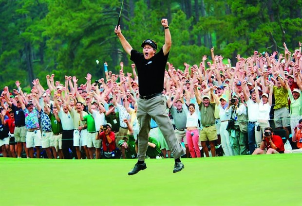Mickelson Celebrating His Victory