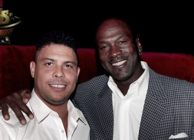 Football Legend Ronaldo with Michael Jordan