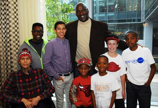 Michael Jordan completes the wish of his fans through Make-a-Wish Foundation