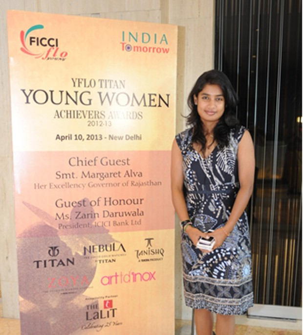 Mithali Raj Awarded YFLO Titan Young Women Achievers Award