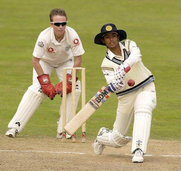 Mithali Raj during a Test match