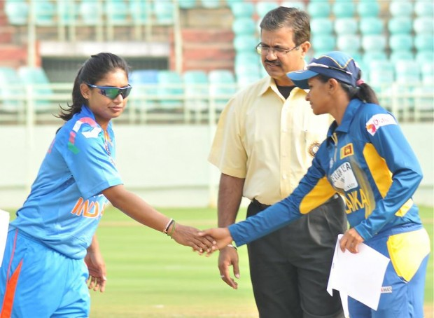Mithali Raj With Sri Lanka Women Captain During a match