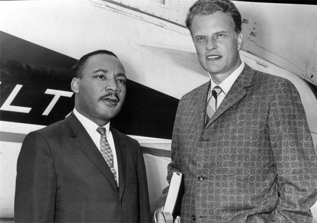 Billy Graham with King