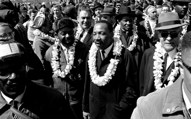 King during march from Selma to Montgomery