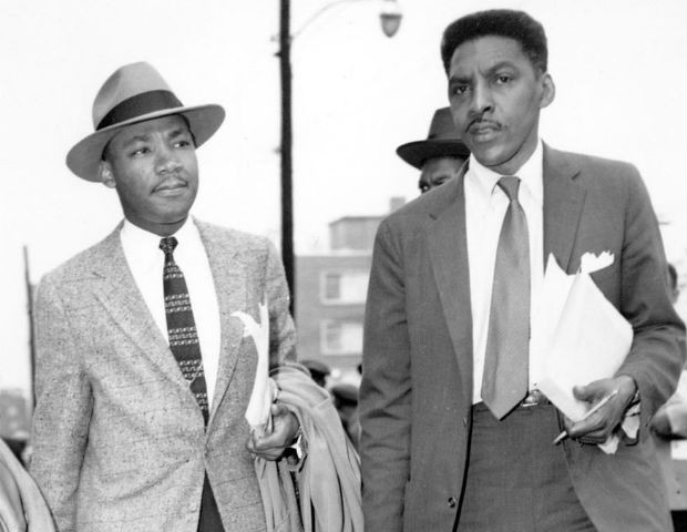 Bayard Rustin with Martin Luther King Jr.