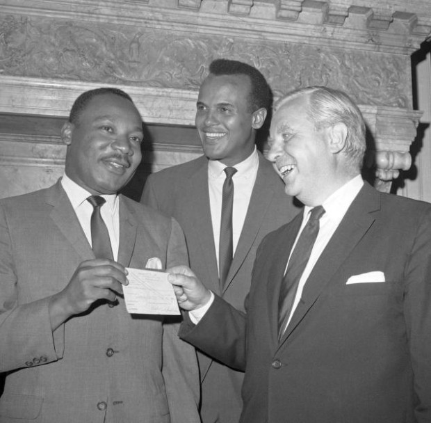 King with Harry Belafonte