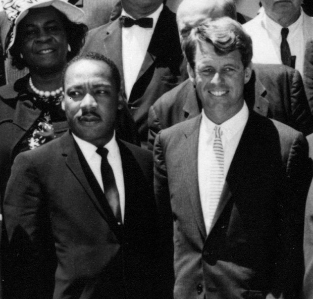 Robert Kennedy with Martin Luther King, Jr