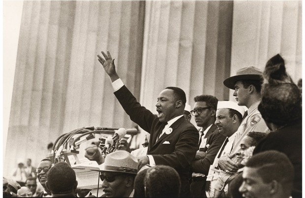 Martin Luther King during march in washington for jobs and freedom