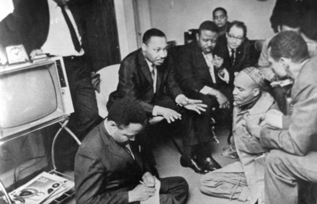 MLK during strategy sessions