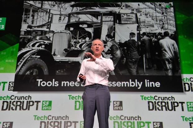 Michael Moritz At TechCrunch Event