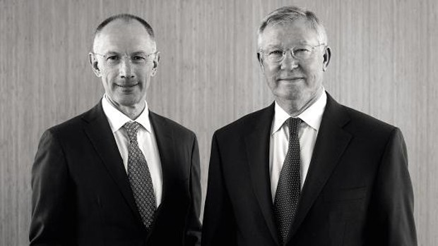 Michael Moritz With Alex Ferguson