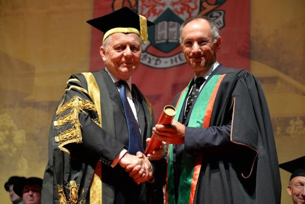 Michael Moritz has been honoured as Fellow of Aberystwyth