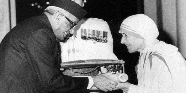 Indian Govt Honored Mother Teresa with Indian Highest Civilian Honor Bhart Ratna