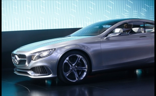 Dieter Zetsche driving Benz at North American International Auto Show Held in Detroit