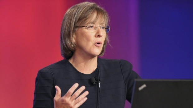 Internet analyst Mary Meeker speaks at the Code conference in Rancho Palos Verdes, California