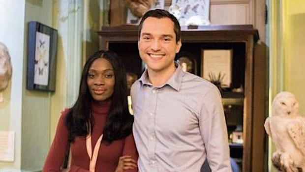 Sissi Johnson with Airbnb Co-founder Nathan Blecharczyk