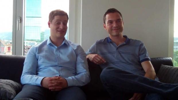 Nathan Blecharczyk und Eugen Miropolski
