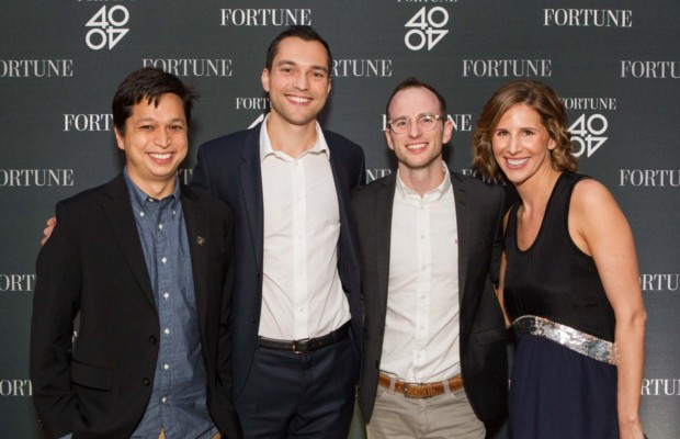 Nathan Blecharczyk with Ben Silbermann, Joe Gebbia and Leigh Gallagher